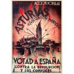 ASTURIAS CIVILIZACION MARXISTA, VOTAD A ESPAÑA