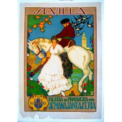 SEVILLA FIESTAS DE PRIMAVERA, SEMANA SANTA Y FERIA 1921
