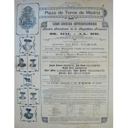 PLAZA DE TOROS DE MADRID. GRAN CORRIDA EXTRAORDINARIA