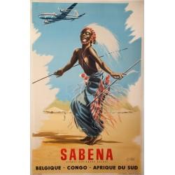 SABENA. CONGO-BELGIQUE-AFRIQUE DU SUD