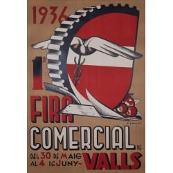 VALLS 1ª FIRA COMERCIAL 1936