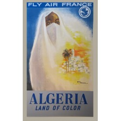 FLY AIR FRANCE. ALGERIA LAND OF COLOR