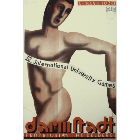 DARMSTADT. IV INTERNATIONAL UNIVERSITY GAMES. 1930