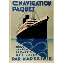 Cie. DE NAVIGATION PAQUET...PAR MARSEILLE