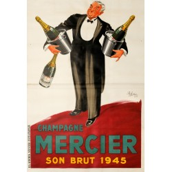 CHAMPAGNE MERCIER SON BRUT 1945...