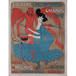 CARNAVAL BARCELONA 1908. LA BUENA SOMBRA