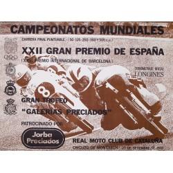 CAMPEONATOS MUNDIALES. REAL MOTO CLUB DE CATALUÑA. 1972