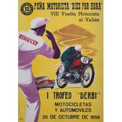 I TROFEO 'DERBI'. VIII VUELTA MOTORISTA AL VALLES.25 OCTUBRE 1959. 'PIRELLI'