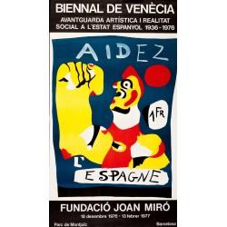 AIDEZ L'ESPAGNE. BIENAL VENECIA 1977. MIRO