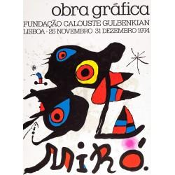MIRÓ i FERRÀ, JOAN (Barcelona 1893 - Palma de Mallorca 1983) OBRA GRAFICA. LISBOA 1974