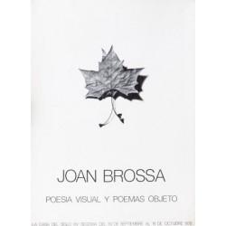 JOAN BROSSA POESIA VISUAL Y POEMAS OBJETO. SEGOVIA 1978