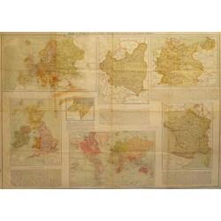 MAPAS DE EUROPA, ALEMANIA, POLONIA, FRANCIA, ISLAS BRITANICAS Y DEL IMPERIO BRITANICO