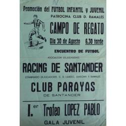 CAMPO DE REGATO. RACING DE SANTANDER - CLUB PARAYAS
