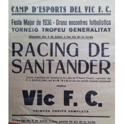 CAMP D'ESPORTS DEL VIC F.C. RACING DE SANTANDER VIC F.C. 1936