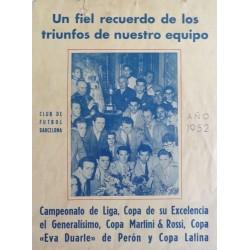 UN FIEL RECUERDO DE LOS TRIUNFOS...C.F. BARCELONA 1952