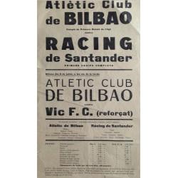 ATHLETIC CLUB DE BILBAO-RACING DE SANTANDER. VIC Ca. 1930