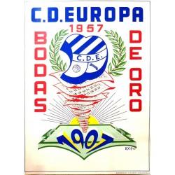 C.D. EUROPA 1957 BODAS DE ORO 1907-1957