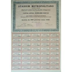 ACCION STADIUM METROPOLITANO. MADRID 1931