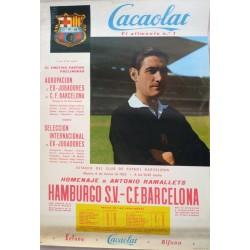 C.F. BARCELONA REAL VALLADOLID. AUTOGRAFO DE RAMALLETS