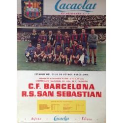 F.C. BARCELONA - R.S. SAN SEBASTIAN 1959