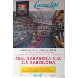 REAL ZARAGOZA C. D. - F. C. BARCELONA 1963. LIGA 1ª DIVISION