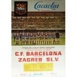 C.F. BARCELONA - ZAGREB SL.V. 1960. III COPA CIUDADES EN FERIA