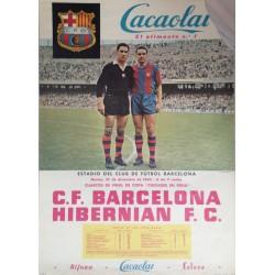 C.F. BARCELONA - HIBERNIAN F.C. 1960. III COPA CIUDADES EN FERIA