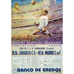 ESTADIO SANTIAGO BERNABEU. 1975. REAL ZARAGOZA C.D. - REAL MADRID C. DE F.