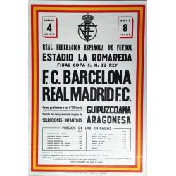 REAL FEDERACION ESPAÑOLA DE FUTBOL.ESTADIO DE LA ROMAREDA F.C. BARCELONA - REAL MADRID F.C