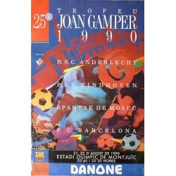 25 TROFEU JOAN GAMPER 1990. PSV EINDHOWEN/ANDERLECHT/SPARTAK/BARCELONA