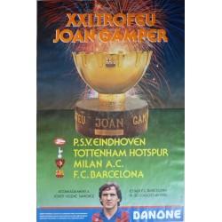 XXI TROFEU JOAN GAMPER 1986. PSV EINDHOVEN/TOTTENHAM/MILAN/BARCELONA