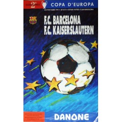 COPA D'EUROPA 1991 F.C. BARCELONA - F.C. KAISERSLAUTEN