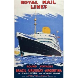 ROYAL MAIL LINES. ROUND VOYAGES TO BRAZIL-URUGUAY-ARGENTINA