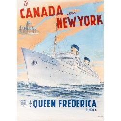 TO CANADA AND NEW YORK. S.S. QUEEN FREDERICA