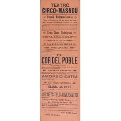 TEATRO CIRCO DE MASNOU. FUNCION EXTRAORDINARIA 1904