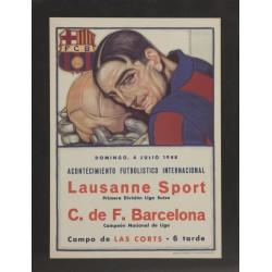 LAUSANE SPORT PRIMERA DIVISIÓN LIGA SUIZA - C. DE F. BARCELONA CAMPEON DE LIGA. 1948