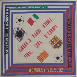 GRAN PAÑUELO FINAL COPA D'EUROPA. WEMBLEY 1992. SAMPDORIA-F.C. BARCELONA
