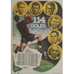 114 GOLES. EN 33 COPAS DEL GENERALISIMO. 1972