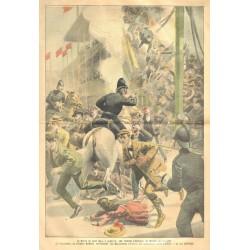 DURANTE EL PARTIDO DE FÚTBOL, EN GLASGOW, UNA TRIBUNA SE HUNDE. 23 MUERTOS. 1902