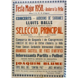 ANDORRA LA VELLA. FESTA MAJOR 1958
