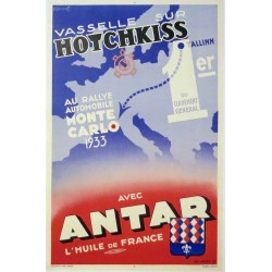 ANTAR HOTCHKISS AU RALLYE MONTECARLO 1933...
