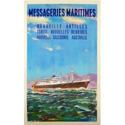 MESSAGERIES MARITIMES. ANTILLES, CALEDONIE, AUSTRALIE...