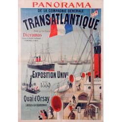 PANORAMA DE LA Cie Gale TRANSATLANTIQUE 1899