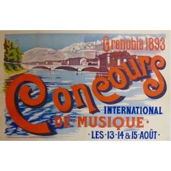 CONCOURS de MUSIQUE GRENOBLE 1893...