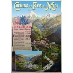 CHEMINS DE FER DU MIDI. STATIONS HIVERNALES & BALNEAIRES. LES EAUX BONNES...