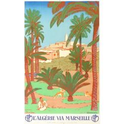 L'ALGERIE VIA MARSEILLE. GHARDAIA...