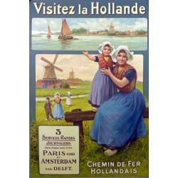 VISITEZ L'HOLLANDE. cHEMINS DE FER HOLLANDAIS...