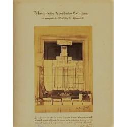 SANT FELIU DE GUÍXOLS, MANIFESTACIÓN DE PRODUCTOS CATALANES EN OBSEQUIO DE S.M. EL REY D. ALFONSO XII