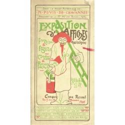 EXPOSITION D'AFFIXHES ARTISTIQUE françaises et étrangères, modernes et rétrospectives. Entrée 1fr. Au Cirque de Reims.1896