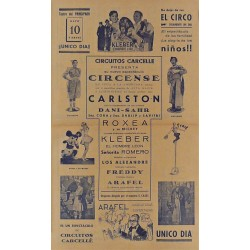 OVIEDO (ASTURIAS) 10/05/1940. CIRCO CARCELLE-CARLSTON